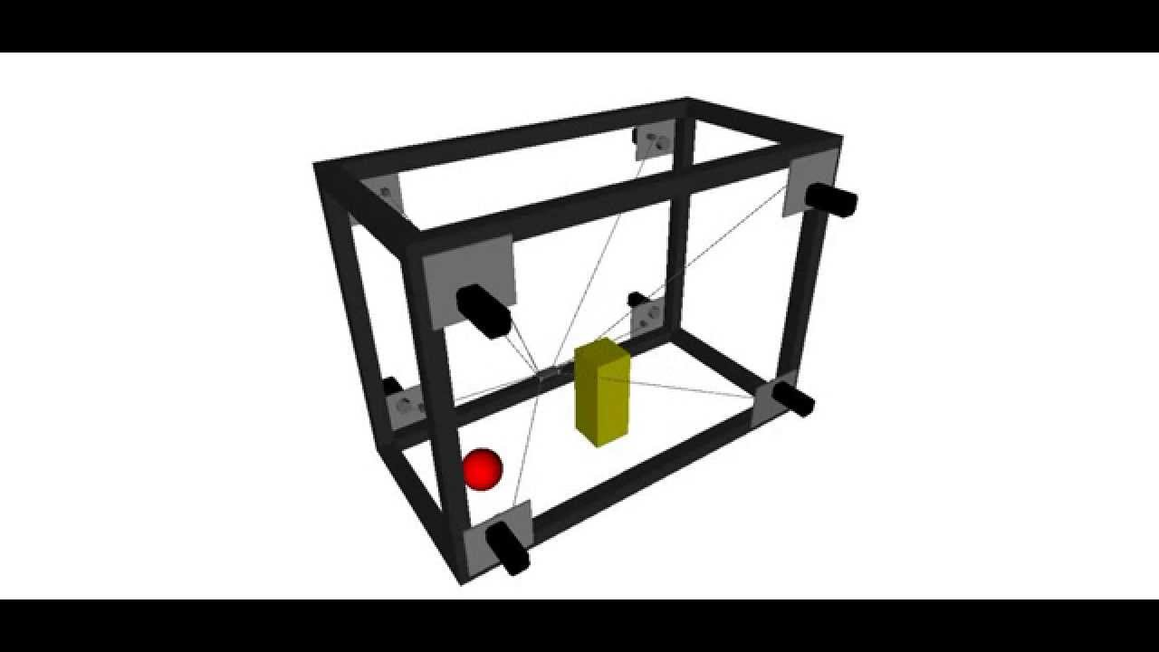 Cable Driven Parallel Robot 3d Simulator - YouTube
