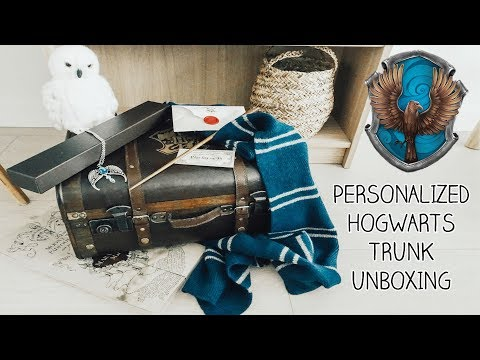Personalized Hogwarts Trunk Unboxing (RAVENCLAW) Platform 9 3/4 Shop | Denise Joanne