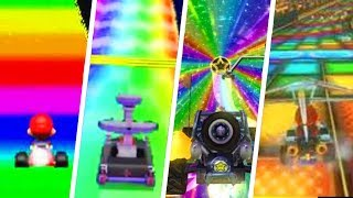 Evolution of Rainbow Road Themes in Mario Kart Games (1992 - 2018)