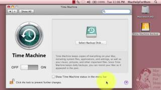 how to set up time machine backups to an external usb drive
