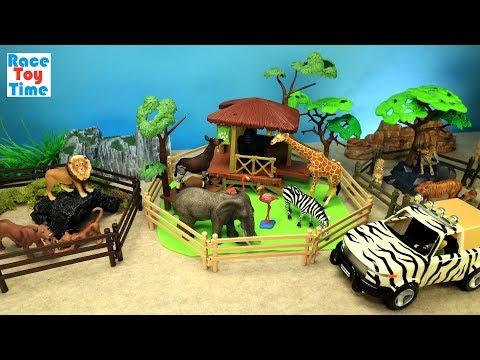Safari Zoo Animals Fun Toys For Kids - Learn Animal Names Video