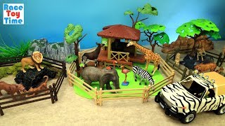 Safari Zoo Animals Fun Toys For Kids - Learn Animal Names Video