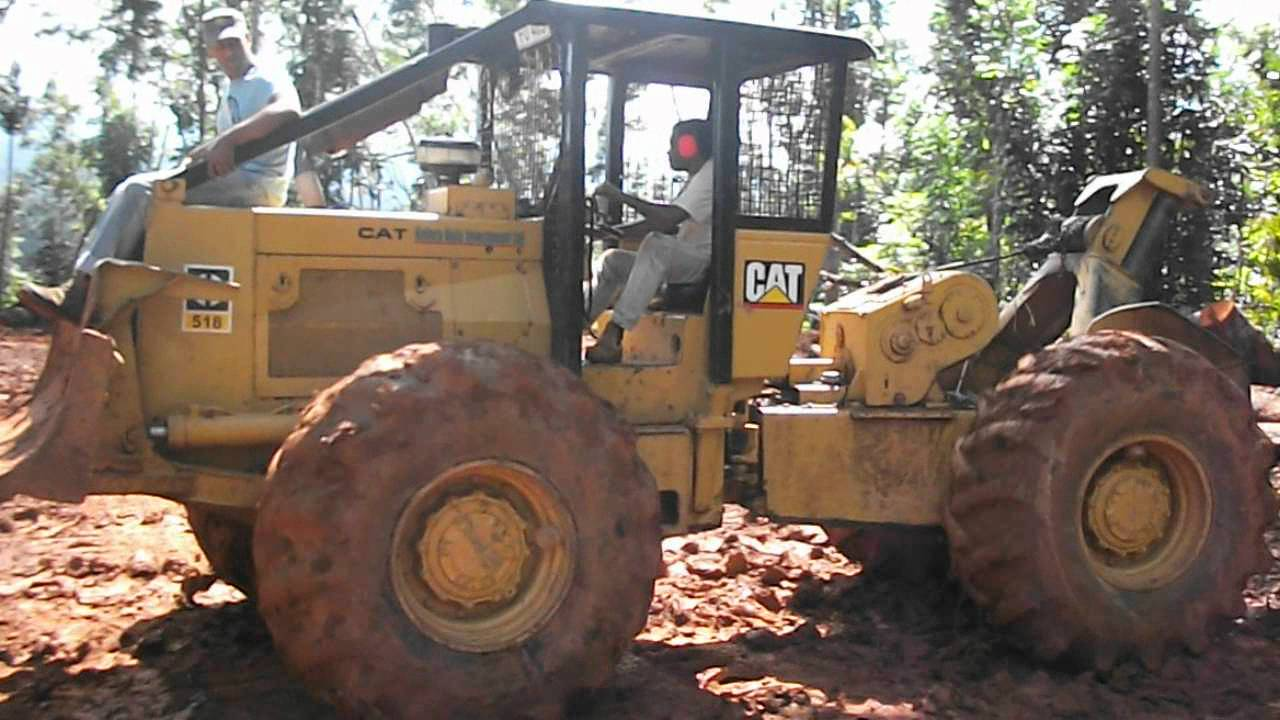 Cat 518 skidder logging