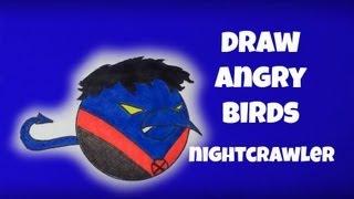 How To Draw Angry Birds Nightcrawler