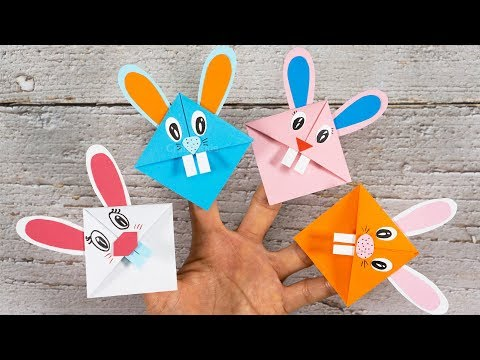 Easy Bunny Bookmark Corners | Easter Paper Craft Ideas | DIY Craft for Kids