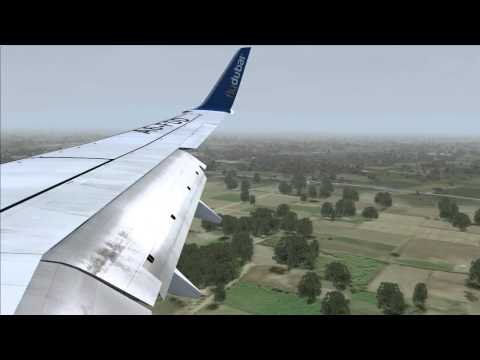 Flydubai PMDG 737-800 Landing At Sialkot/SKT International From Dubai/DXB FSX