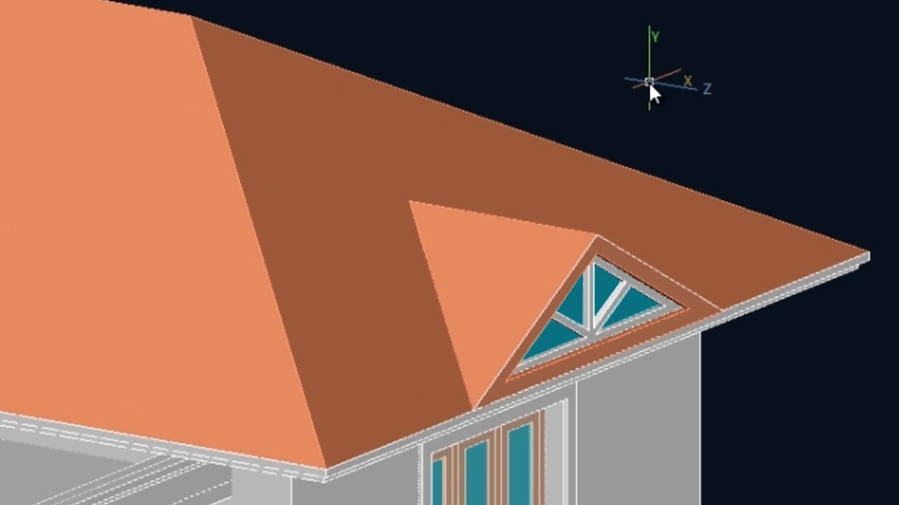 Autocad 3d House Part 7 Make Gables Gable Roof Youtube
