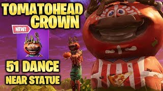 NEW TOMATOHEAD CROWN Skin Style. 51 DANCES & Gameplay - Fortnite Battle Royale