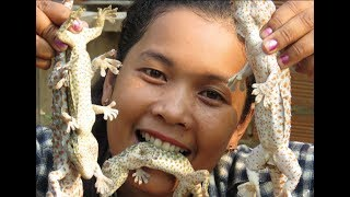 Awesome Cooking Gecko   Recipe Delicious    Village Food Factory