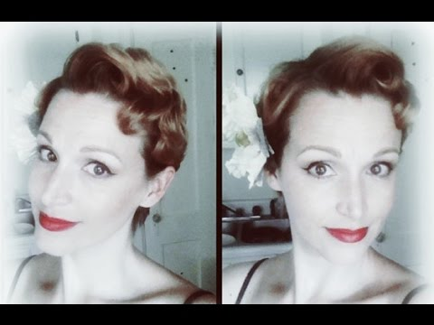 1950's short hairstyle- pin