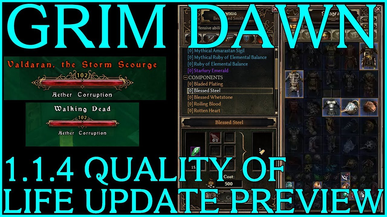 Searchable Bank, Autoloot, Enemy Healthbars, and MORE! - GRIM DAWN 1 1 4  QoL Patch Preview