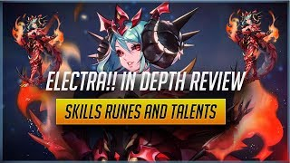 Electra!! In Depth Hero Review!! Suggested Build: Skills, Runes and Talents. [Knights Chronicle]