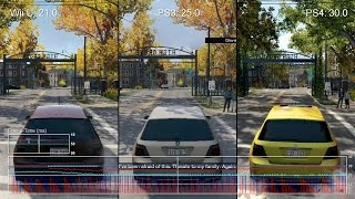 Watch Dogs: Wii U vs PS3 vs PS4 Frame-Rate Test