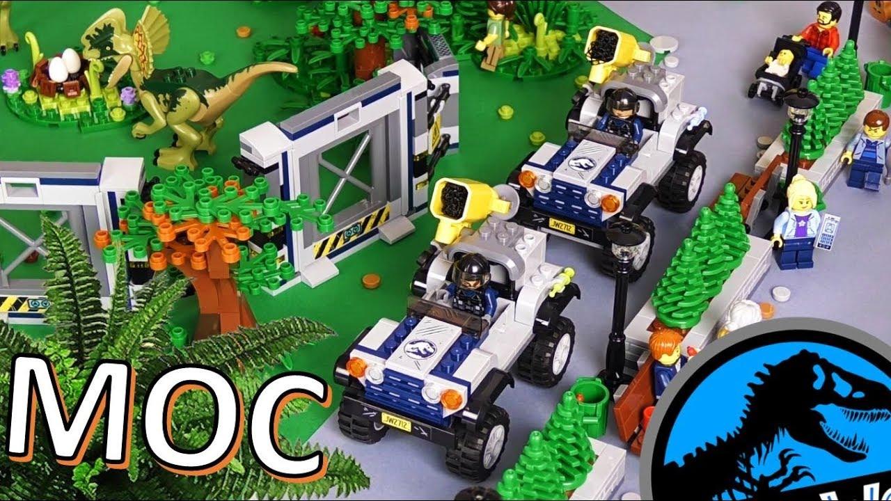 Wielki Park Jurajski Z Klocków Lego Makieta Maciek I Klocki