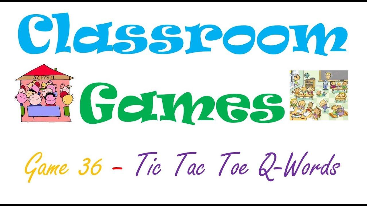 Classroom Games 36 Tic Tac Toe Q Words Youtube