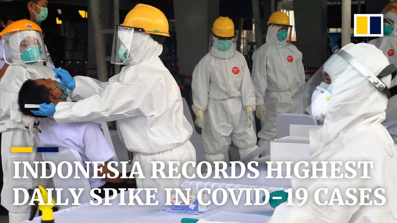 Indonesia Reports Highest Daily Spike In Coronavirus Cases Youtube
