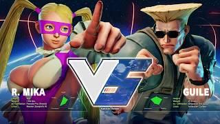 Street Fighter V: Meowsyoudoing (R. Mika) V Sixecho (Guile) - Nemesis 43 SFV