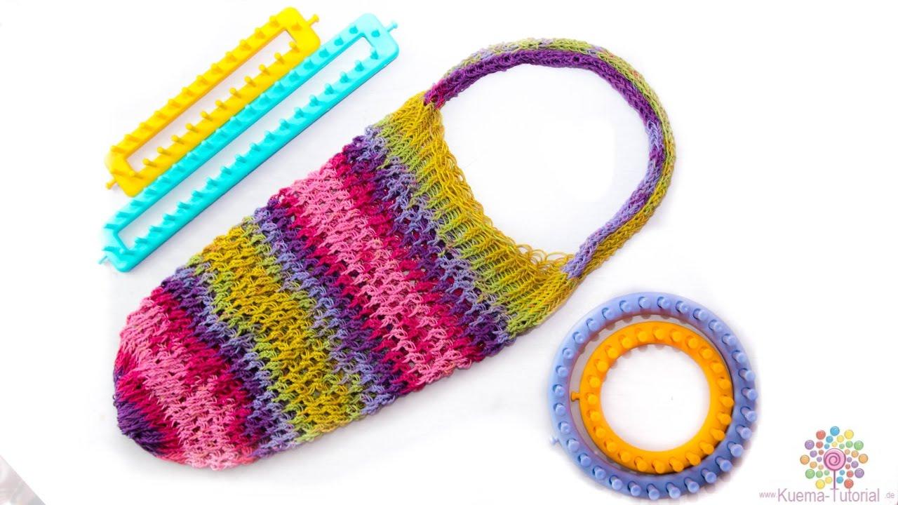 Knitting Loom Strickring Einkaufsnetz Netztasche Tragetasche