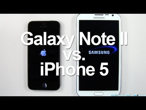 Galaxy Note 2 vs iPhone 5 - Boot Up, App Speed, and Browser Test