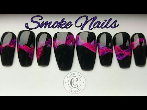 Easy Smoke Gel Nails Design Tutorial