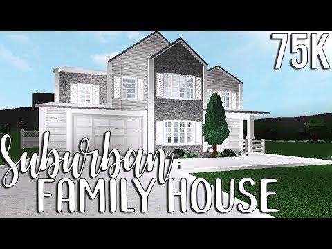 ROBLOX | Bloxburg: Suburban Family House 75k - YouTube