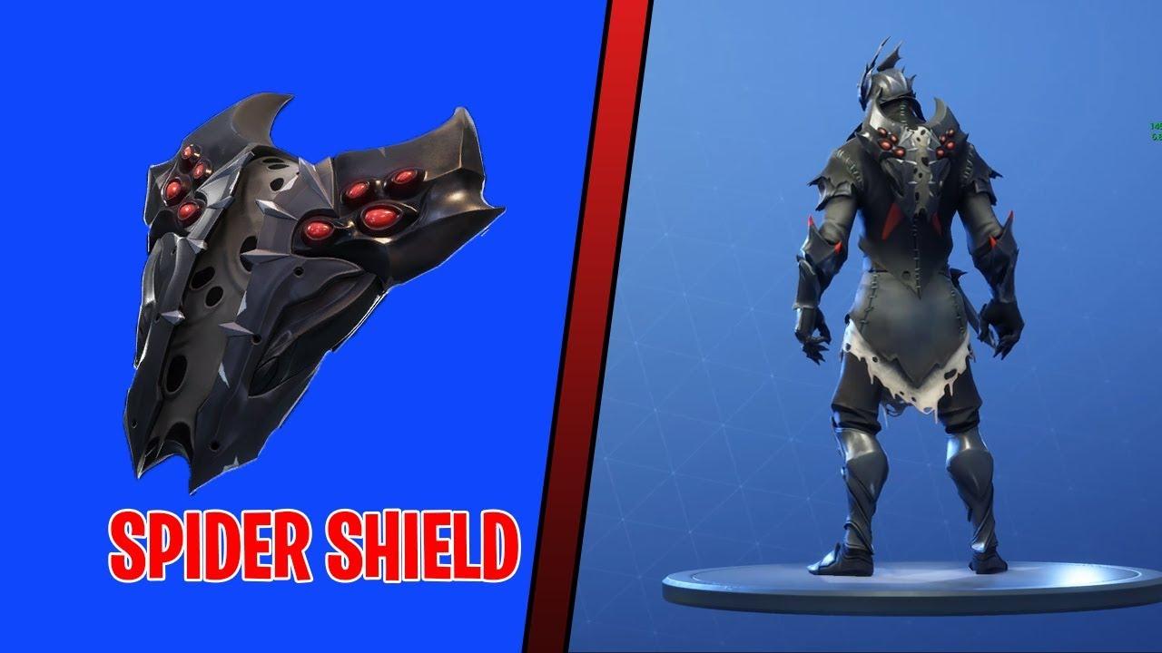 Fortnite Spider Shield On All New Skins New Spider Shield Back