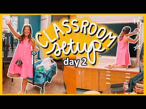 CLASSROOM SETUP DAY 2   Teacher Summer Vlog