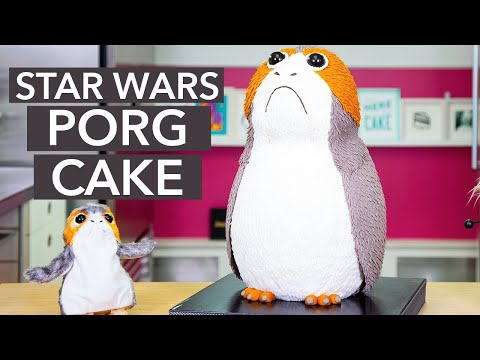 How To Make A PORG Cake From The STAR WARS: The Last Jedi | Yolanda Gampp | How To Cake It