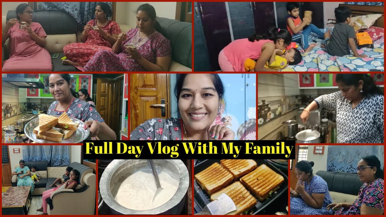 #Vlog / Full Day Vlog With My Family / మా చెల్లి చేసిన సేమ్యా ఖీర్ / Family Time / Playing Dhayaalu