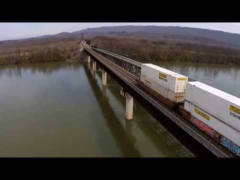 Quadcopter - Bridgeport, AL Bridge and Train