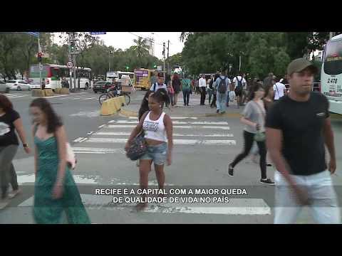 Cai qualidade de vida no Recife