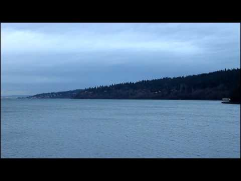 Sounder Commuter Train #1707 at Carkeek Park in Seattle, WA. 12/09/2014