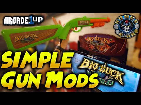 Big Buck Hunter/World Arcade1up Gun Mods - Clicking Micro Switches & Adding Weight to Gun Stock from Kongs-R-Us