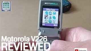 Review of Motorola V226 Mobile Phone from 2004