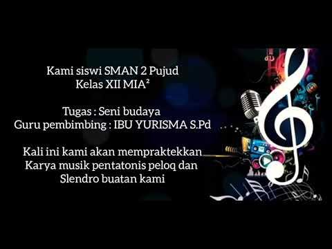 Karya Musik Pentatonis Peloq Dan Slendro Youtube