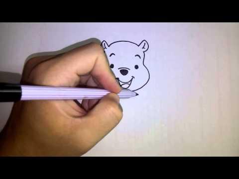 สอนวาดรูป การ์ตูน หมีพูห์ Winnie the Pooh