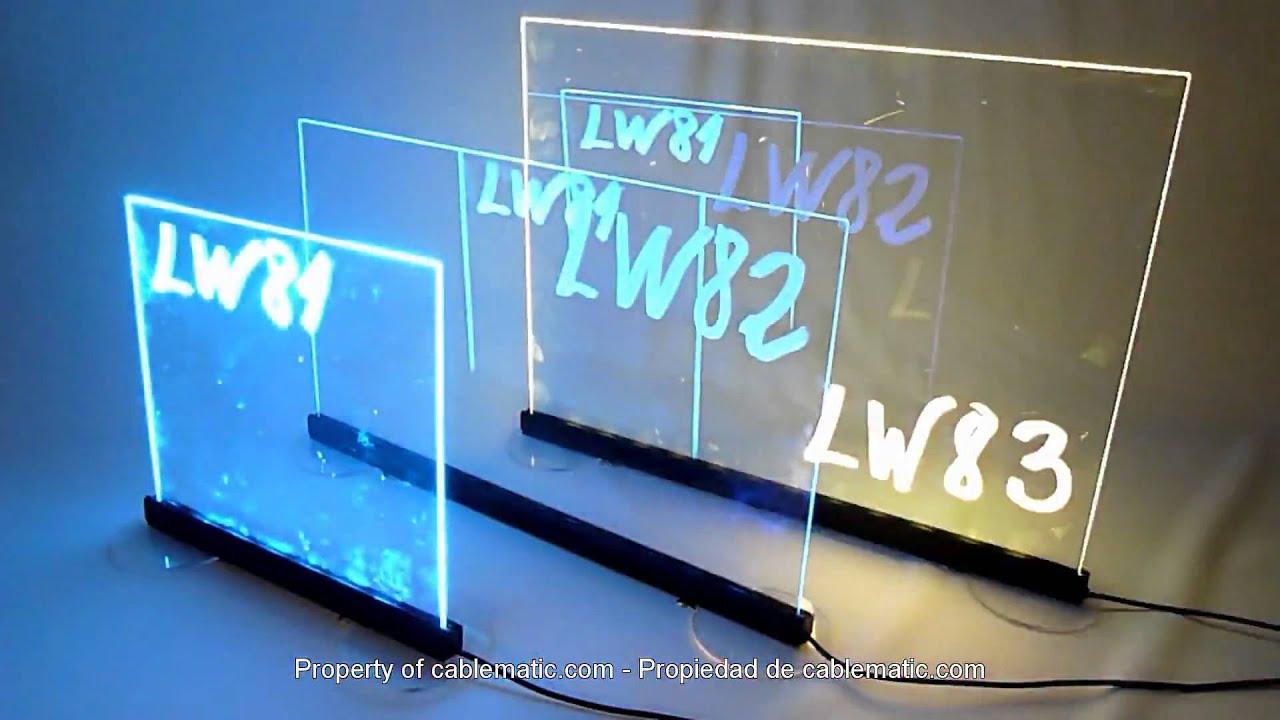 LED werbetafel schreibtafel writing boards 45x35cm transparent ...