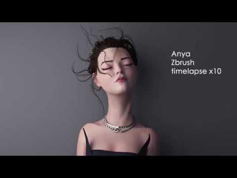 Anya Taylor-Joy fanart   Zbrush Timelapse