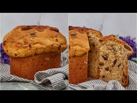 Chocalate chips panettone how to make it at home in a few steps