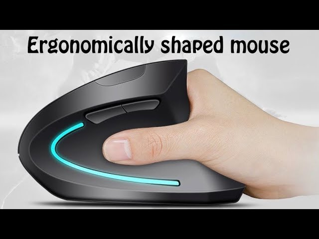 Wireless Mouse Efk Ergonomic Usb 2 4g Wireless Vertical Mouse 800 1200 1600 3200dpi Youtube