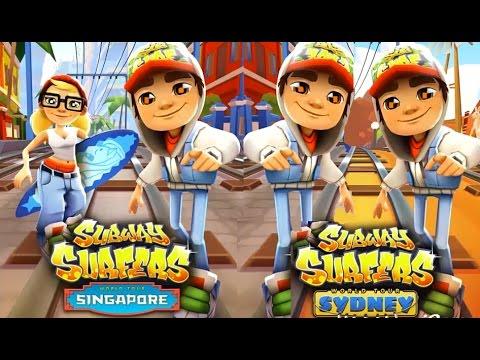 Subway Surfers Singapore VS Sydney Full Gameplay for Children HD