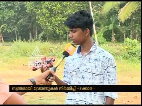 12th Class student Joshua from Thodupuzha made racing drone