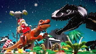 Christmas in Lego Jurassic World 2 Stop Motion