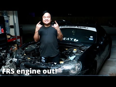 Pulling an FRS/BRZ engine out!