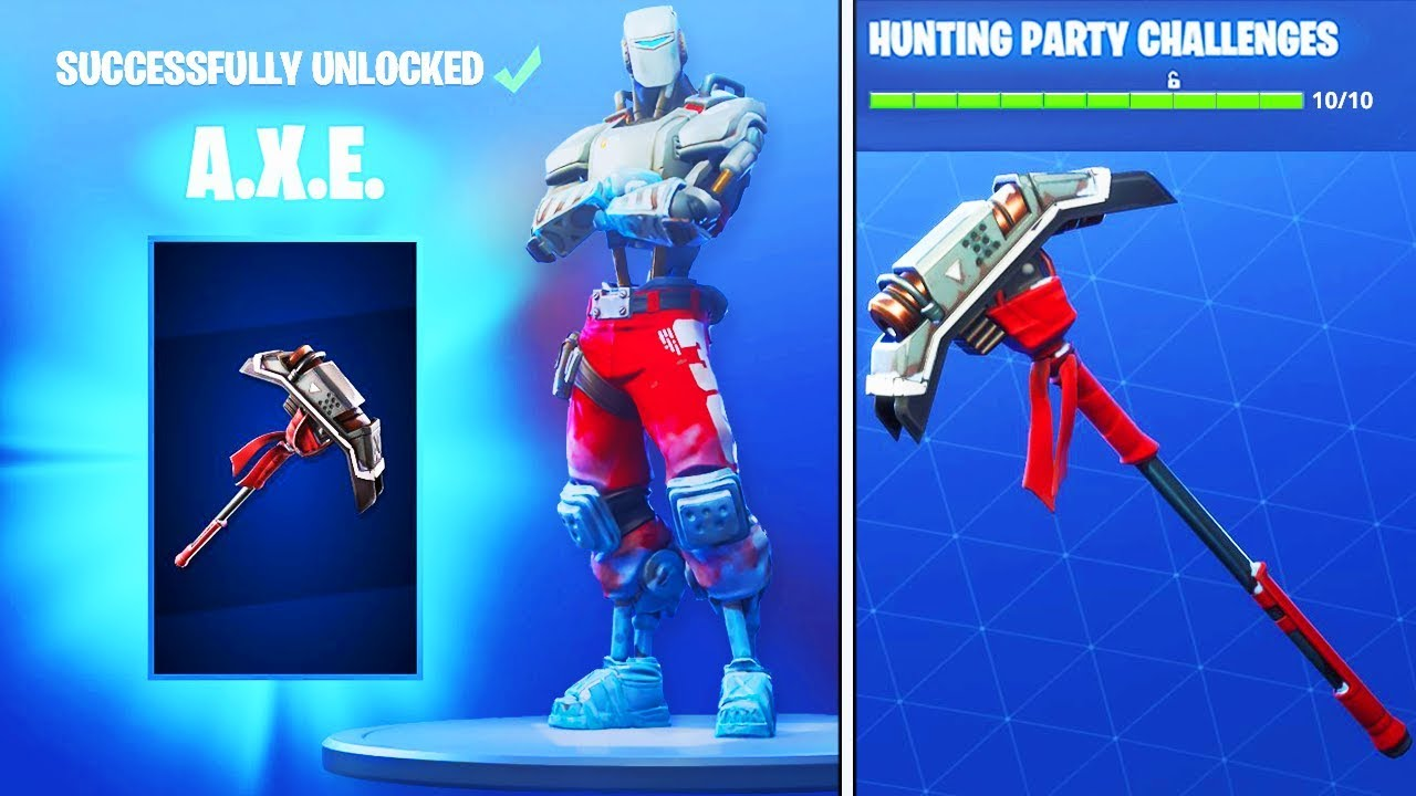 How To Get Hunting Party Pickaxe In Fortnite New Aim Skin Pickaxe