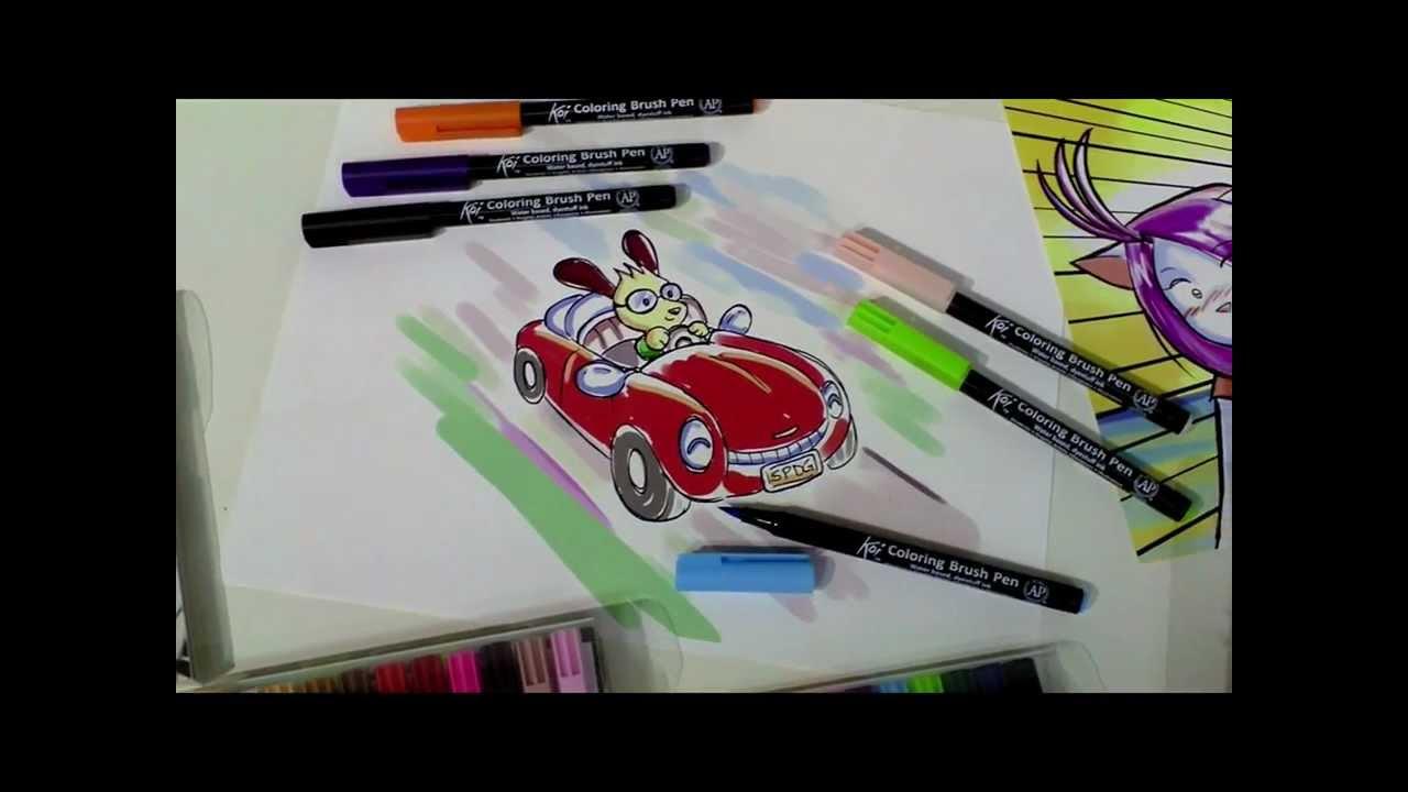 sakura koi coloring brush product video - youtube