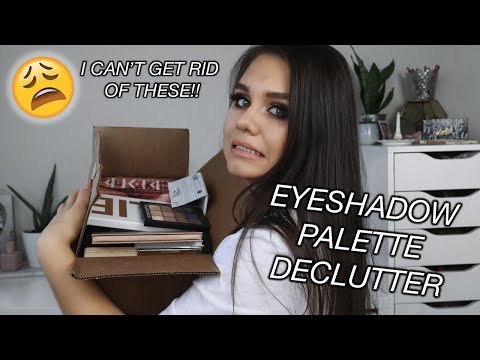 EYESHADOW PALETTE DECLUTTER | THIS IS SO HARD OMG