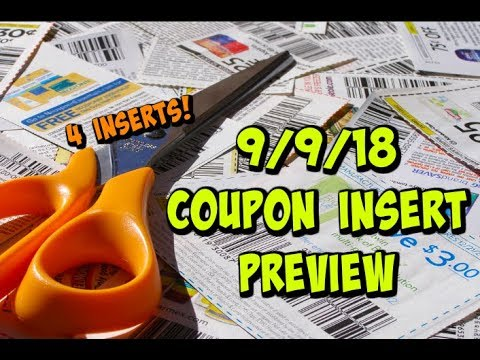 9/9/18 COUPON INSERT PREVIEW | 4 Inserts | Printable Coupon Update!