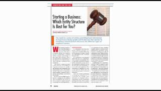 Computing and the Law: Starting a Business: Which Entity Structure Is Best for You?