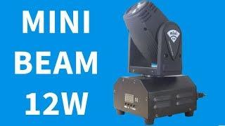 Mini Beam Moving 12W RGBW Quadriled DMX 9 Canais Iluminação Festas DJ Profissional